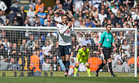 Vincent Janssen of Tottenham Hotspur claps the fans after scoring his side's fourth goal during the Premier League match between Tottenham Hotspur and Bournemouth at White Hart Lane, London, England on 15 April 2017. Photo by Mark  Hawkins / PRiME Media Images.