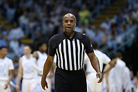CHAPEL HILL, NC - MARCH 03: Official Jeffrey Anderson during a game between Wake Forest and North Carolina at Dean E. Smith Center on March 03, 2020 in Chapel Hill, North Carolina.