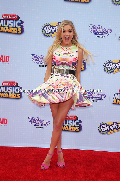 LOS ANGELES - FEB 25:  Kelsea Ballerini at the Radio DIsney Music Awards 2015 at the Nokia Theater on April 25, 2015 in Los Angeles, CA