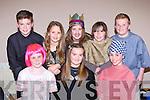 The Kilcummin Léiriú at the East Kerry Scór na bPáiste in Fossa on Saturday front row l-r: Aireann Moriarty, Eabha Dwyer, Shauna O'Donoghue. Back row: Nathan Counihan, Lillie Foley, Líadain O'Connor, Anna Hannigan and Dara O'Callaghan