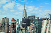NOVA YORK, EUA, 24.04.2018 - TURISMO-EUA - Vista do Empire State na ilha da Manhattan na cidade de Nova York nos Estados Unidos nesta terça-feira, 24. (Foto: William Volcov/Brazil Photo Press)