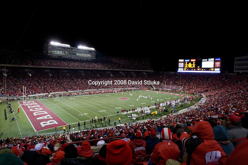 MADISON, WI - NOVEMBER 15: A general view of Camp Randall Stadium during the Wisconsin Badgers game against the Minnesota Golden Gophers on November 15, 2008 in Madison, Wisconsin. Wisconsin beat Minnesota 35-32. (Photo by David Stluka)