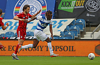 Osman Kakay of Queens Park Rangers holds off Harry Arter of Fulham during Queens Park Rangers vs Fulham, Sky Bet EFL Championship Football at the Kiyan Prince Foundation Stadium on 30th June 2020