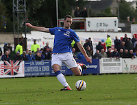 Lee Wallace in the Forres Mechanics v Rangers William Hill Scottish Cup 2nd Round match, at Mosset Park, Forres on 29.9.12.
