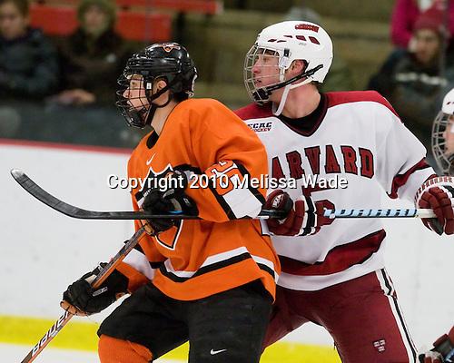 Matt Arhontas (Princeton - 26), Jack Christian (Harvard - 5) - The Princeton University Tigers defeated the Harvard University Crimson 2-1 on Friday, January 29, 2010, at Bright Hockey Center in Cambridge, Massachusetts.