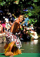 Pageant of the canoes. One of the highlights at the Polynesian Cultural Center