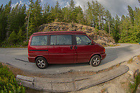 Big Red Volkswagen Eurovan, Egmont, Sunshine Coast, British Columbia, Canada