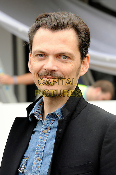 Matthew Williamson.The Chelsea Flower Show 2012, London, England..May 21st, 2012.headshot portrait black denim shirt moustache mustache facial hair goatee.CAP/CJ.©Chris Joseph/Capital Pictures.