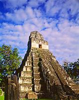 Temple I (Jaguar Temple), Tikal National Park, Peten District, Maya Biosphere Reserve, Guatemala