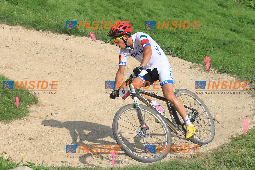 Marco Aurelio Fontana (ita) medaglia di Bronzo.Cycling Mountain Bike Men Final at 12 08 2012 Olympic Summer Games 2012 in London.12/08/2012 London..Foto Insidefoto / Nico Vereecken / Photo News Panoramic