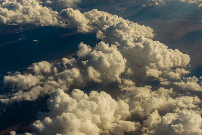 Clouds flying over Namibia, Southwest Africa.