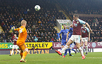 Burnley's Chris Wood mis-directs over Leicester City's Kasper Schmeichel from close-range<br /> <br /> Photographer Rich Linley/CameraSport<br /> <br /> The Premier League - Burnley v Leicester City - Saturday 16th March 2019 - Turf Moor - Burnley<br /> <br /> World Copyright © 2019 CameraSport. All rights reserved. 43 Linden Ave. Countesthorpe. Leicester. England. LE8 5PG - Tel: +44 (0) 116 277 4147 - admin@camerasport.com - www.camerasport.com