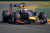 March 14, 2014: Daniel Ricciardo (AUS) from the Infiniti Red Bull Racing team during practice session two at the 2014 Australian Formula One Grand Prix at Albert Park, Melbourne, Australia. Photo Sydney Low.