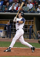 August 31, 2003:  Matt Walbeck of the Toledo Mudhens, Class-AAA affiliate of the Detroit Tigers, during a International League game at Fifth Third Field in Toledo, OH.  Photo by:  Mike Janes/Four Seam Images