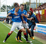 Graham Dorrans celebrates his first goal for Rangers