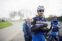 Tom Boonen (BEL/Etixx-QuickStep) during the Ronde van Vlaanderen 2016 recon