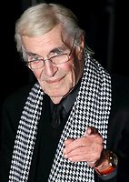 Martin Landau<br /> The 'Frankenweenie 3D' opening gala, 56th BFI London Film Festival, Odeon Leicester Square cinema, London, England.<br /> October 10th, 2012<br /> headshot portrait black white dogtooth houndstooth scarf glasses hand finger pointing <br /> CAP/ROS<br /> &copy;Steve Ross/Capital Pictures /MediaPunch ***NORTH AND SOUTH AMERICAS ONLY***