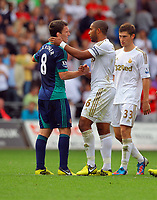 Saturday, 01 September 2012<br /> Pictured: <br /> Re: Barclays Premier League, Swansea City FC v Sunderland at the Liberty Stadium, south Wales.<br /> Ashley Williams of Swansea