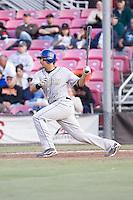 July 7, 2009: Tri-City Dust Devils' Mike Zuanich at-bat during a Northwest League game against the Salem-Keizer Volcanoes at Volcanoes Stadium in Salem, Oregon.