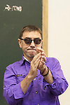 Former `Podemos´ party member Juan Carlos Monedero attends a conference about basic income in Madrid, Spain. June 08, 2015. (ALTERPHOTOS/Victor Blanco)