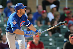 Chicago Cubs' Matt Szczur bats in a spring training game against the Arizona Diamondbacks in Phoenix, AZ, on Thursday, March 23, 2017.<br /> Photo by Cathleen Allison/Nevada Photo Source