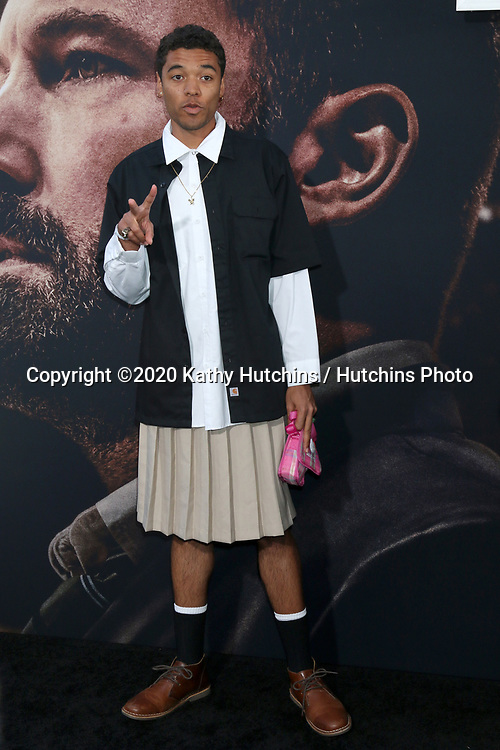 LOS ANGELES - MAR 1:  Brandon Wilson at the The Way Back Premiere at the Regal LA Live on March 1, 2020 in Los Angeles, CA