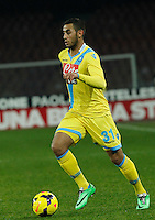 Faouzi Ghoulan    in action during the Italian Serie A soccer match between SSC Napoli and Genoa CFC   at San Paolo stadium in Naples, February 24 , 2014