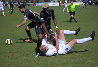 Action from the ISPS Handa Premiership football match between Team Wellington and Eastern Suburbs AFC at David Farrington Park in Wellington, New Zealand on Sunday, 22 October 2017. Photo: Dave Lintott / lintottphoto.co.nz
