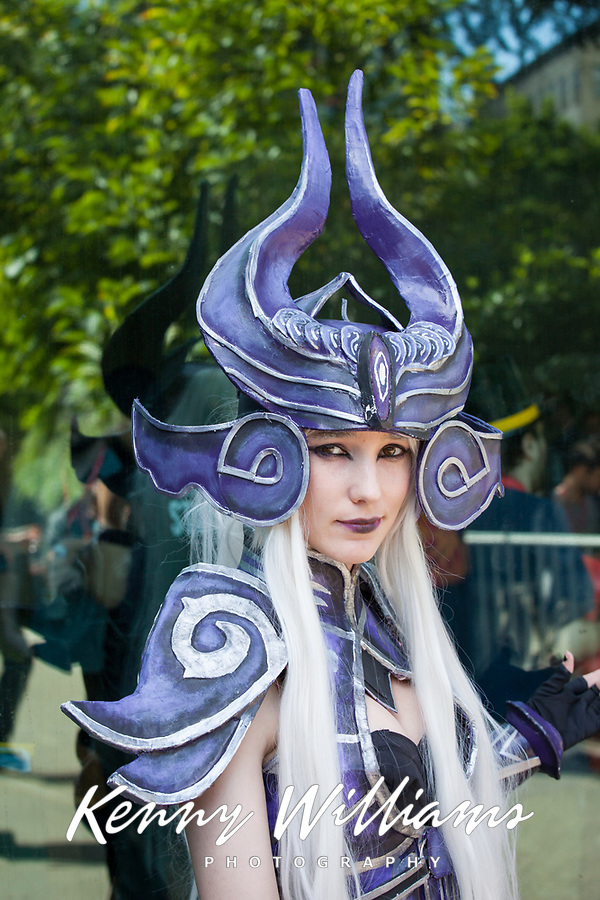 Syndra of League of Legends by HKHugs Cosplay, Pax Prime 2015, Seattle, Washington State, WA, America, USA.