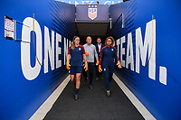 Sandy, Utah - Thursday June 07, 2018: Alyssa Naeher, Abby Smith during an international friendly match between the women's national teams of the United States (USA) and China PR (CHN) at Rio Tinto Stadium.