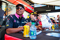 Oct 18, 2019; Ennis, TX, USA; NHRA top fuel driver Antron Brown during qualifying for the Fall Nationals at the Texas Motorplex. Mandatory Credit: Mark J. Rebilas-USA TODAY Sports