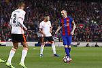Andres Iniesta en el partido de liga entre el FC Barcelopna contra el Valencia en el Camp Nou