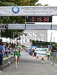 Simon Ryan crosses the line in second place in the Seamie Weldon 5K Run in Ardee. Photo:Colin Bell/pressphotos.ie
