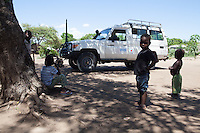 Handicap International team during a monitoring visit in Dondo area, Sofala province, Mozambique.