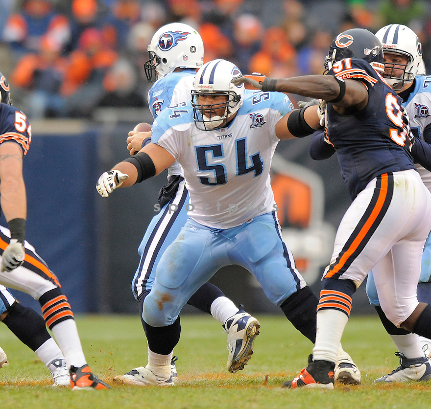 EUGENE AMANO, of the Tennessee Titans in action against the Chicago Bears, during the Titans game  in Chicago, IL  on Novmeber 7, 2008..Titans win 21-14