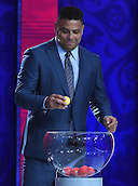25.07.2015. St Petersburg, Russia.  Draw assistant Ronaldo of Brazil during the South American Zone Preliminary Draw of the FIFA World Cup 2018 at Konstantinovsky palace outside St. Petersburg, Russia, 25 July 2015. St. Petersburg is one of the host cities of the FIFA World Cup 2018 in Russia which will take place from 14 June until 15 July 2018.