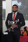 A S Wilcox & Sons Premier Club Player of the Year, Viliame Rarasea from Ardmore Marist. Counties Manukau Rugby Unions Senior Prize giving held at ECOLight Stadium Pukekohe on Wednesday November 2nd, 2016.<br /> Photo by Richard Spranger.