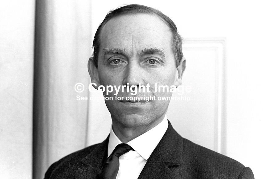 Stanley McMaster, Ulster Unionist, MP, UK Parliament, Westminster. 196802000100<br />