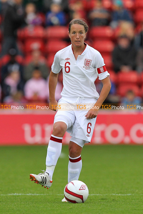 Casey Stoney of England - England Women vs Croatia Women - UEFA Womens Euro 2013 Group 6 Qualifier Football at Banks's Stadium, Walsall - 19/09/12 - MANDATORY CREDIT: Gavin Ellis/TGSPHOTO - Self billing applies where appropriate - 0845 094 6026 - contact@tgsphoto.co.uk - NO UNPAID USE.