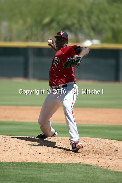 Jeferson Mejia - Arizona Diamondbacks 2016 extended spring training (Bill Mitchell)