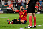 Spain's Rodrigo Moreno have words with the referee during UEFA Nations League 2019 match between Spain and England at Benito Villamarin stadium in Sevilla, Spain. October 15, 2018. (ALTERPHOTOS/A. Perez Meca)