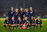 US Women's National Team Starting Eleven. US Women's National Team vs Germany at Impuls Arena in Augsburg, Germany on October 27, 2009.