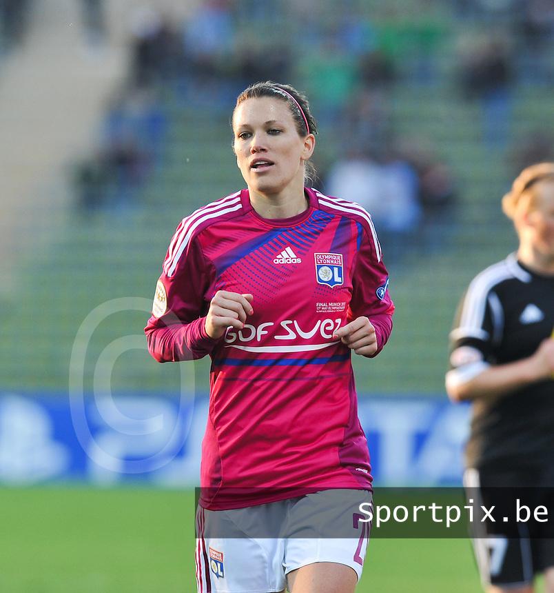 Uefa Women 's Champions League Final 2012 at Olympiastadion Munchen : Olympique Lyon -  FC Frankfurt : Lara Dickenmann..foto DAVID CATRY / JOKE VUYLSTEKE / Vrouwenteam.be