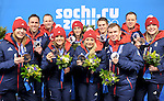 22/02/2014 - Medal Ceremonies - Medal Plaza - Olympic Park - Sochi - Russia