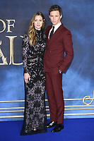 LONDON, UK. November 13, 2018: Eddie Redmayne &amp; Hannah Bagshawe at the &quot;Fantastic Beasts: The Crimes of Grindelwald&quot; premiere, Leicester Square, London.<br /> Picture: Steve Vas/Featureflash