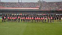 SÃO PAULO,SP, 10.11.2018 - BRASIL-ALL BLACK MAORI – Time do All Black Maori durante partida contra o Brasil, jogo amistoso internacional de Rugby, disputada no estádio do Morumbi em São Paulo, neste sabado, 10. (Foto: Levi Bianco/Brazil Photo Press)