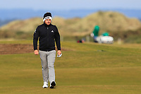Tyrrell Hatton (ENG) on the 16th fairway during round 4 of the Alfred Dunhill Links Championship at Old Course St. Andrew's, Fife, Scotland. 07/10/2018.<br /> Picture Thos Caffrey / Golffile.ie<br /> <br /> All photo usage must carry mandatory copyright credit (&copy; Golffile | Thos Caffrey)