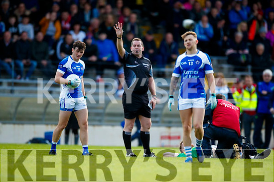 Referee Eddie Walsh.  South Kerry v Kerins O'Rahillys in the Kerry Senior Football Championship Semi Final at Fitzgerald Stadium on Saturday.