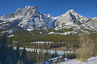 Canadian Rockies in winter, Kananaskis Country, Alberta, Canada