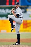 Starting pitcher Zach McAllister (39) of the Charleston RiverDogs in action versus the Hickory Crawdads at L.P. Frans Stadium in Hickory, NC, Sunday, May 4, 2008.
